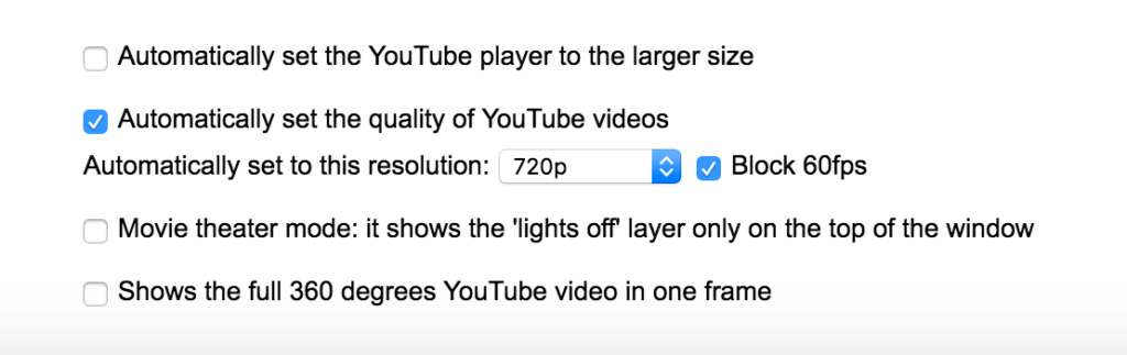 YouTube video setting block 60 frame per second