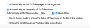 block 60 frame per second on YouTube