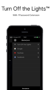 Turn Off the Lights with 1Password app
