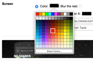 Apple Safari Preview with the color picker