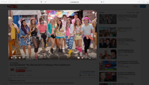 Turn Off the Lights safari extension for youtube rewind 2016