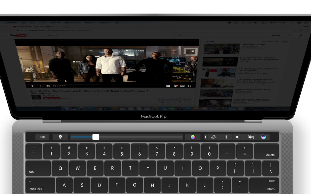 Touch bar Turn Off the Lights mac app