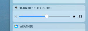 Notification Center Widget Turn Off the Lights for Desktop Mac app