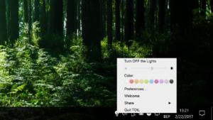 Turn Off the Lights for Desktop Windows 10 Desktop App