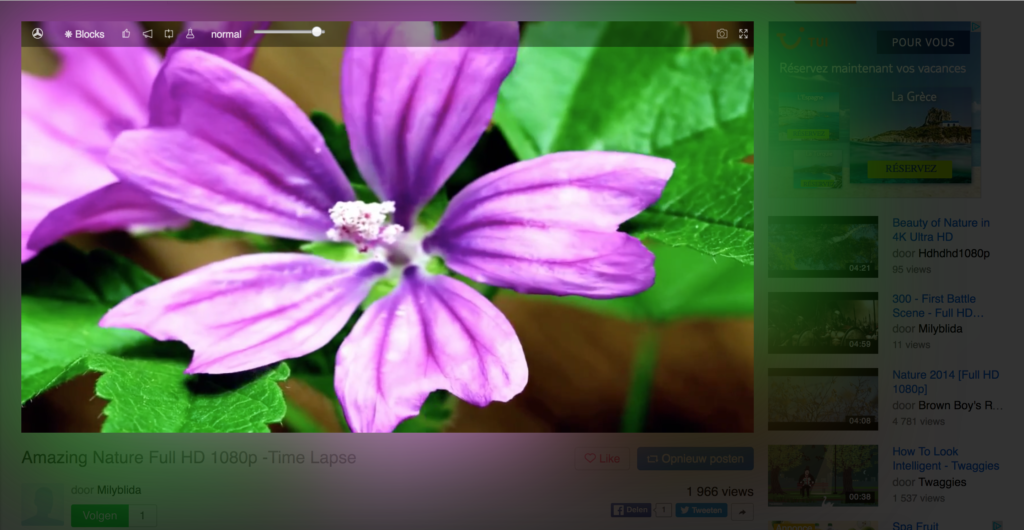 Vivid Mode for all HTML5 video players