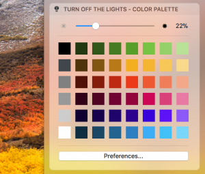 Color palette from the macos notification sidebar