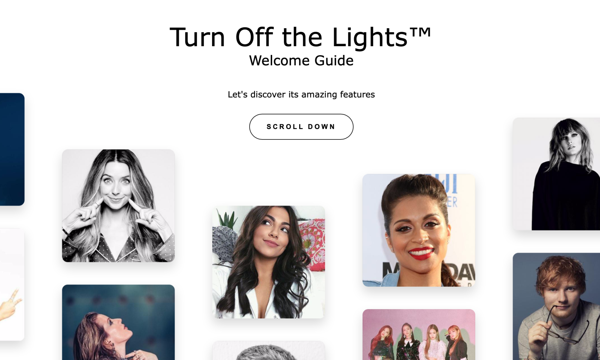 Interactive Welcome Guide Turn Off the Lights browser extension