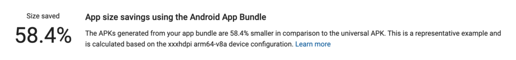 Android Dark Mobile web browser that have an app size saving of 58.4% in the Android App Bundle