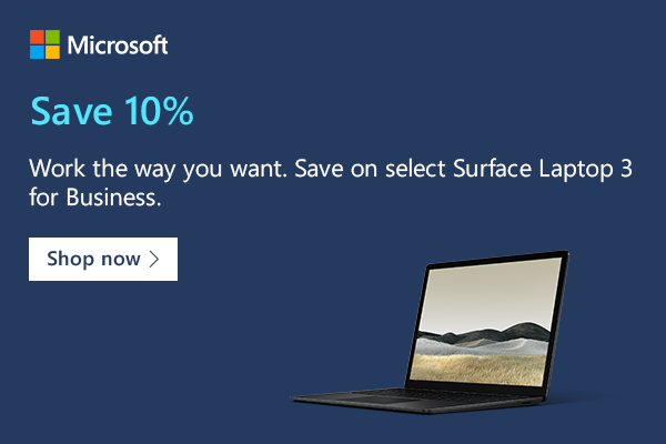 Microsoft Surface Laptop 3 with discount of 10%. That is available for students, parents, and business owners