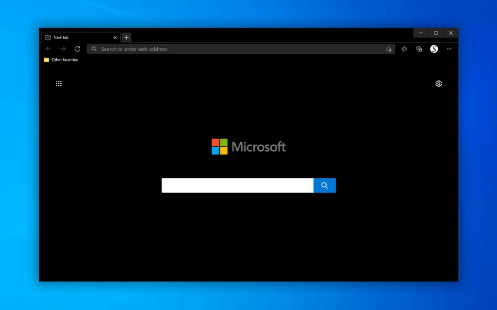 Complete Black Theme for Microsoft Edge web browser