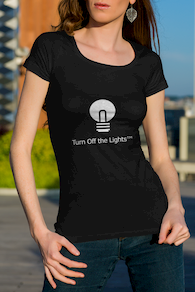 Sarah Turn Off the Lights black t-shirt