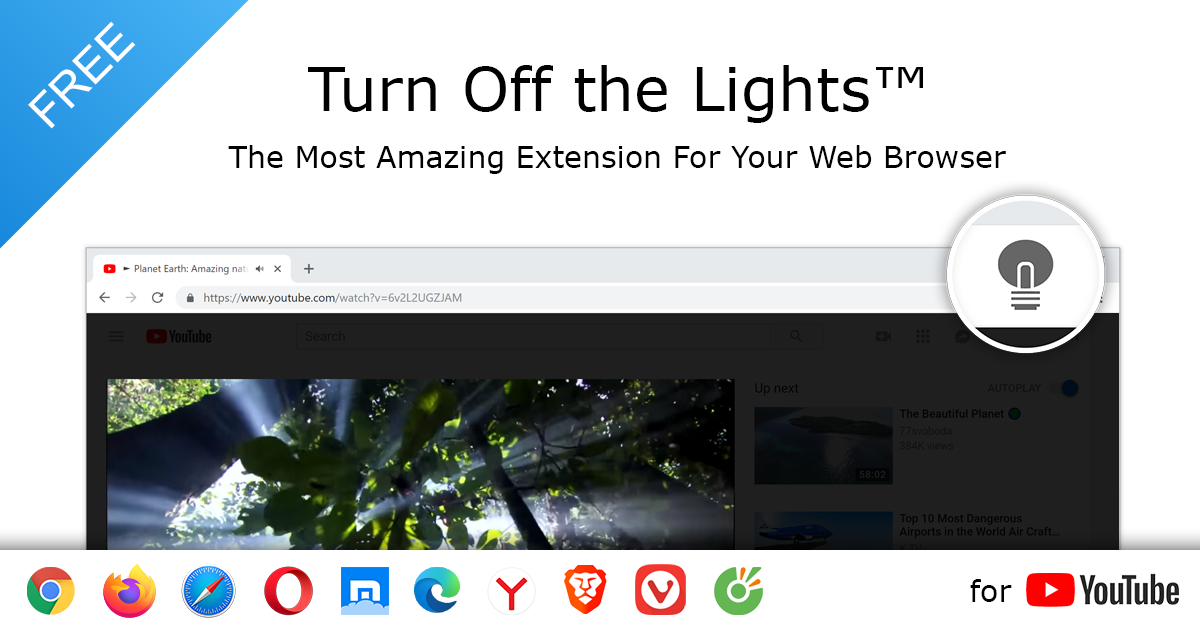 Beleuchtung Youtube S | Turn Off The Lights Browser Extension Atmosphere Lighting