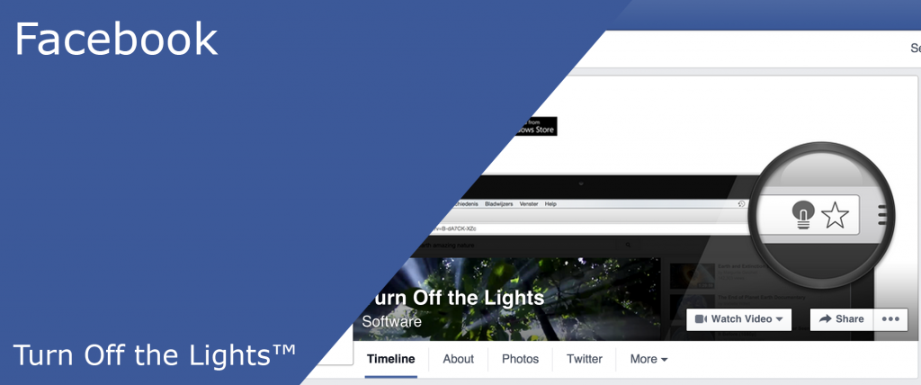 It can detect all the Facebook videos with the Turn Off the Lights browser extension