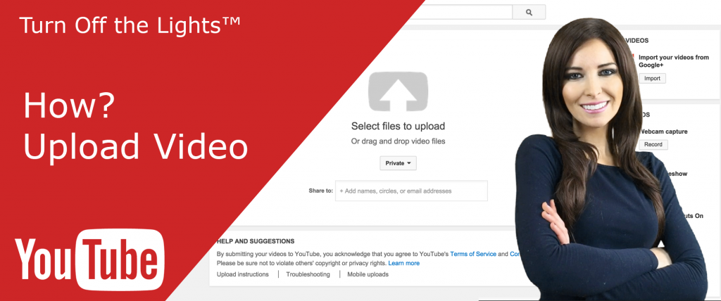 Image on how to upload videos on YouTube