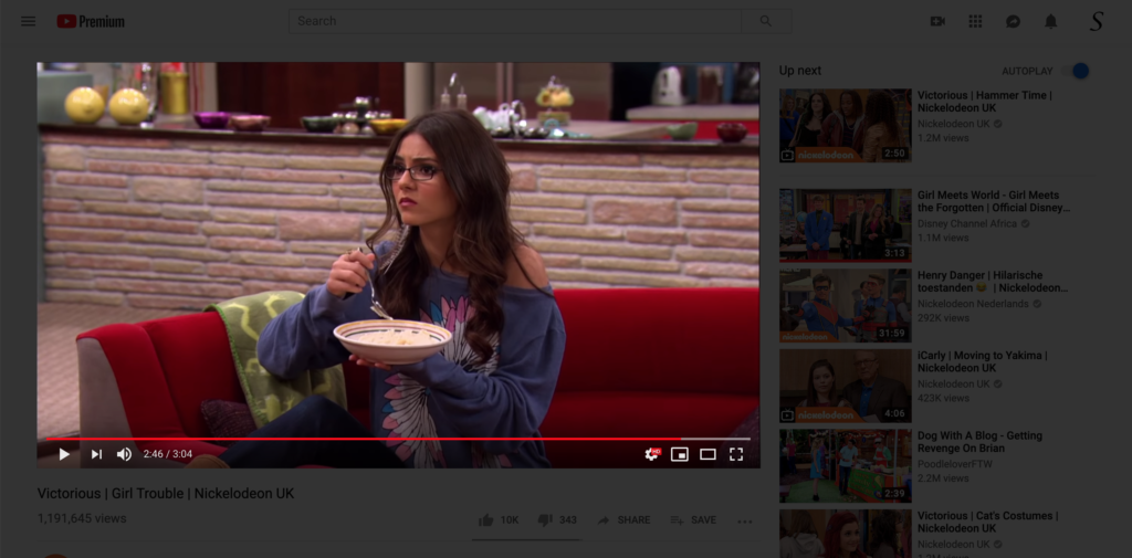 Binge Watching YouTube video Turn Off the Lights browser extension