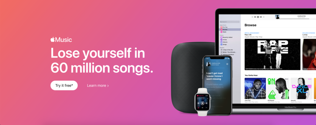 Apple Music support with the Turn Off the Lights browser extension