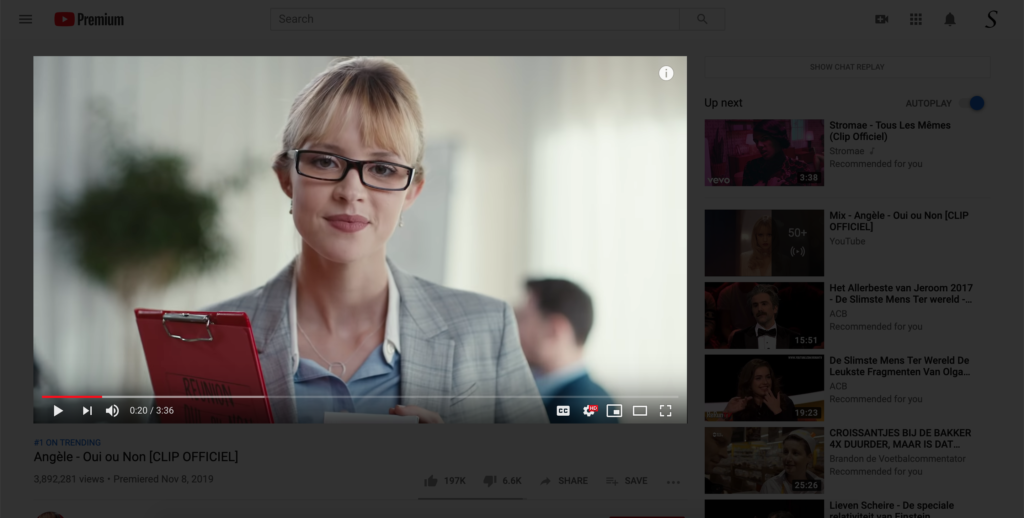The Turn Off the Lights browser extension does not focus the YouTube video, that can be resolved in very easily