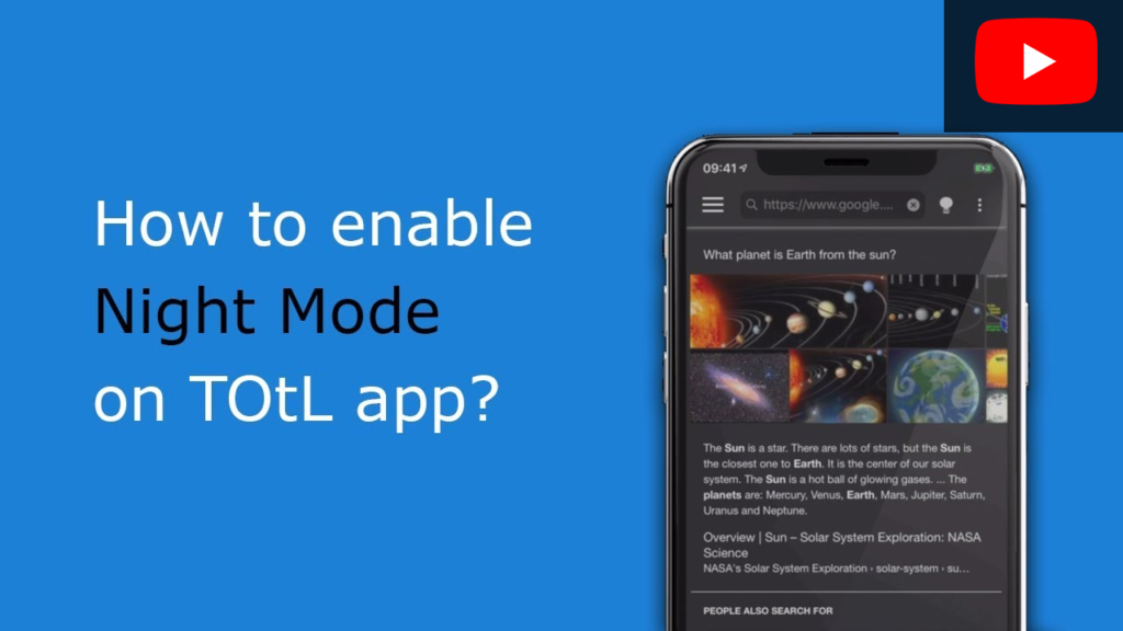 How to enable Night Mode on TOtL app