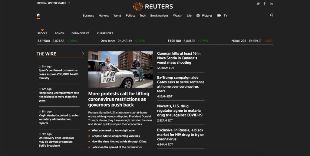 Reuters Dark Mode