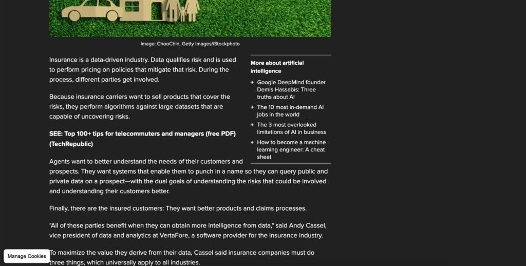TechRepublic dark mode website version