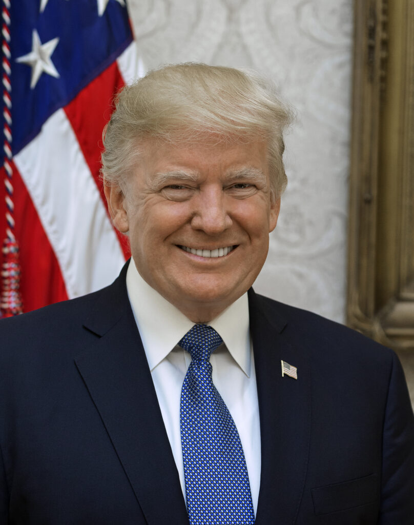 Official portrait of President Donald J. Trump, Friday, October 6, 2017.  (Official White House photo by Shealah Craighead). Before Trump Turn Off the Lights shout out at the conference.