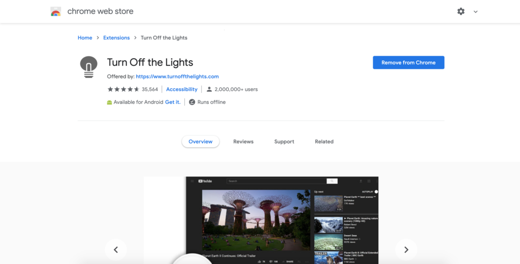 How to add an extension in Chrome such as the Turn Off the Lights Chrome extension