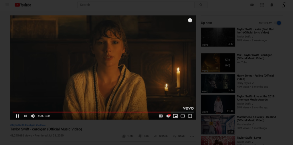 YouTube extension for Opera