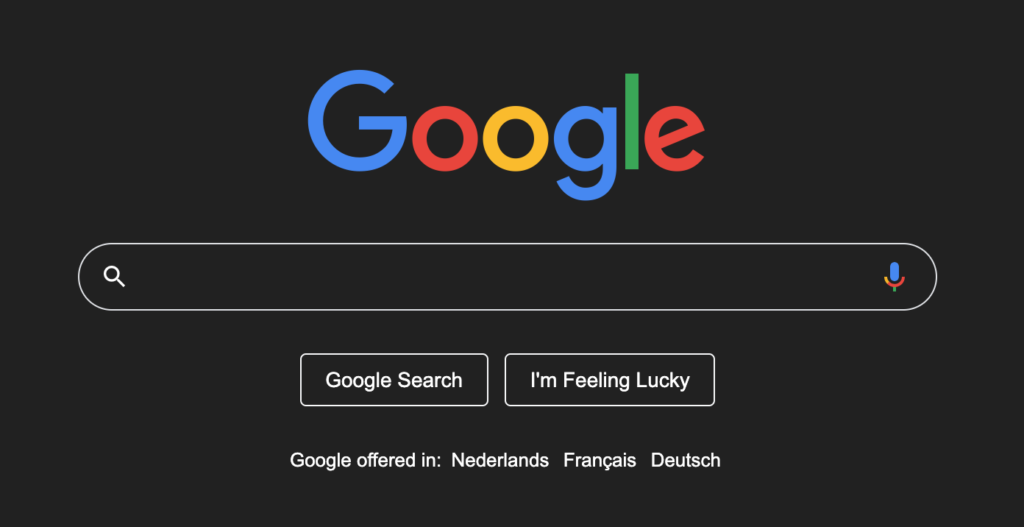 What is dark mode. And how do I get for example Dark Mode website on Google website