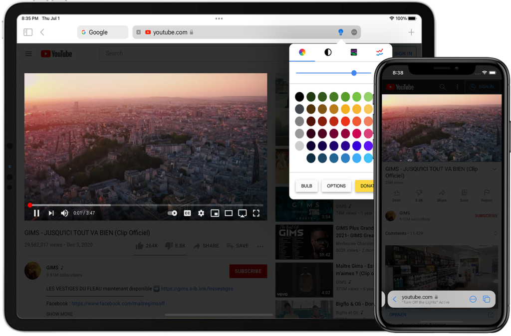 Turn Off the Lights Safari extension one of the 10 Best iOS Safari Extensions for iPhone and iPad in 2021